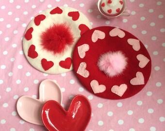 Valentine's Heart Beret