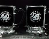 Set of 2 Wedding ANNIVERSARY COFFEE MUGS - 5th 10th 15th 20th 25th 30th 40th 50th Anniversary Glasses Gifts for Parents Couples Ships Canada