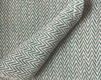Beach Glass Green Cotton Baby Blanket