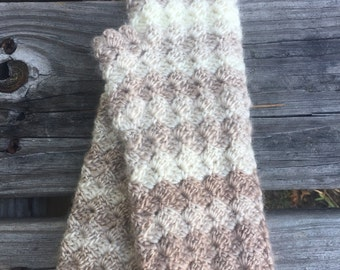 Crochet Wrist Warmers | Cream