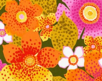 Robert Kaufman Laurel Canyon Collection Avocado Floral Fabric - 1 yard