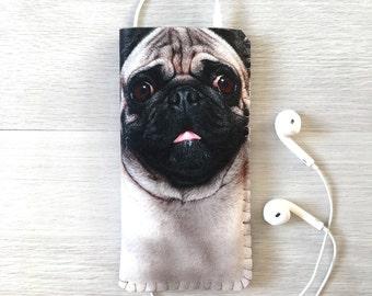 iPhone 7 Case, iPhone 6/6S Case, iPhone 5/5S/5C Case, iPhone SE Case - Pug Dog iPhone Case