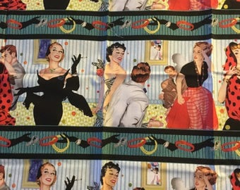 Saturday Evening Post by Quilting Treasures-Out Of Print- 30 x 18 Inches