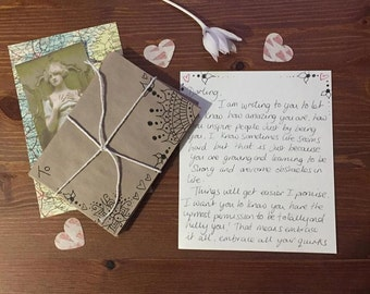 Personal love letter written just for you, romantic writing, self esteem, message from the soul