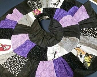 Girls patchwork Nightmare Before Christmas circle skirt