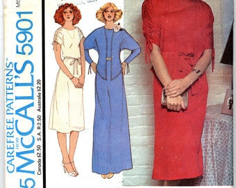Misses' Dress in Two Lenghts and Jacket Sewing Pattern - McCall's 5901 - Size Small - Sizes 10 - 12 - UNCUT