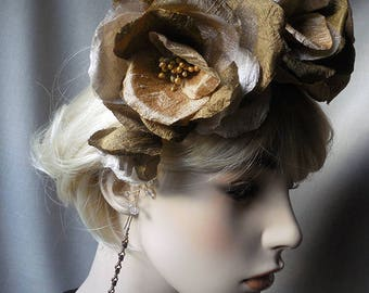 Golden Rose Fascinator