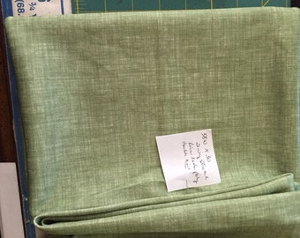 Olive Green Linen look poly fabric
