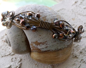 Bronze wire wrapped bracelet