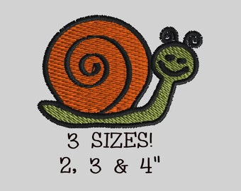 Buy 1 Get 1 Free!  Snail Embroidery Design Snail Embroidery Pattern Small Snail Embroidery Design Mini Snail Embroidery Design Bug Embroider