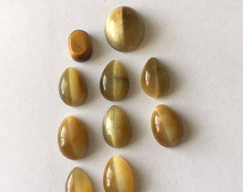 Tigers Eye Cabochons Mixed Lot