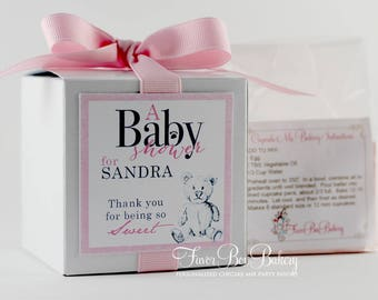 BABY BEAR ...One Dozen (12) Personalized Cupcake Mix Baby Shower, Baby Sprinkle Shower Favors