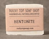 Bentonite Clay Soap - All Natural Soap, Handmade Soap, Fragrance Free Soap, Vegan Soap