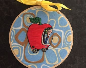 An Apple A Day - Lowly Worm Embroidery