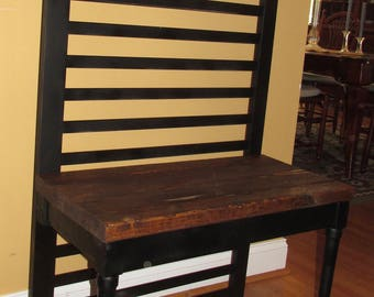 Custom Built Antique  Farmhouse Porch Bench Seat