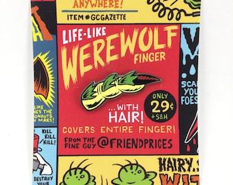 Werewolf Finger Enamel pin