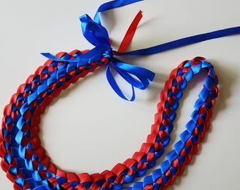 Large Braided Satin Ribbon Lei