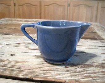 Vintage Blue USA Stoneware Creamer