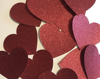 Large Heart Die Cuts, Red Heart Cutouts, Glitter Hearts, Heart Cut Out, Die Cut Hearts, Cardstock Hearts, Paper Hearts, Valentines Day Decor