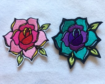 Traditional tattoo Rose patch