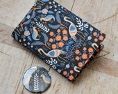 Small notebook & mirror set covered in Rifle Paper Co tapestry print fabric. Removable cover