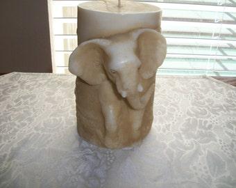 Vintage, Sculptured Wax Elephant Candle, By Nana's Vintage Shop
