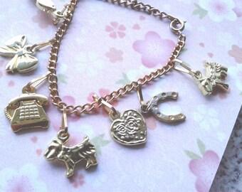 Vintage Barbie Charm Bracelet - CHILDREN'S bracelet - Kitsch Kawaii