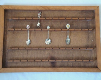 Vintage Spoon Rack Holds up to 48 Souvenir Spoons on 4 Tiers Large