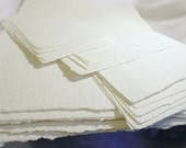 Hand Made Paper White Watercolor Paper for One Single Piece sized 8 1/2 x 11 inches  PM-SINGLE