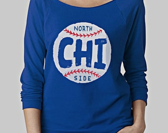 Chicago Cubs Women's Scoopneck Sweatshirt