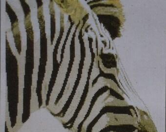 Zebra -  Graeme Ross - Counted Cross Stitch Chart