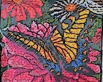 Dimensions - Kit 7232 - Butterfly on Zinnia