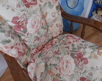 Nursery Glider Rocker SlipCover -Shabby Chic Pink Roses   Covers for your cushions