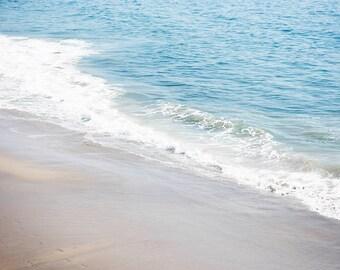 "Seascape Art, Blue Ocean, Seashore, Ombre, Coastal Art, Beach Photography, Soothing Decor, Beach Print, Ocean Waves ""Ocean Breeze"""