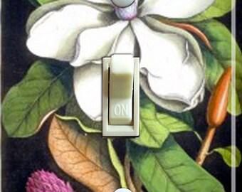 Vintage Magnolia Illustration  Switch Plate (single)  ***FREE Shipping***