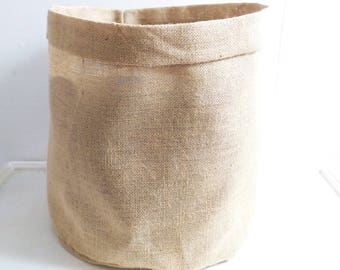 Plain Large Hessian Pot