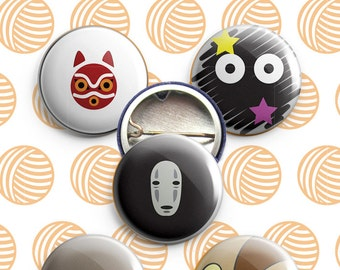 Studio Ghibli-themed Buttons, 1""