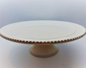 Vintage White  Pedestal Cake Stand