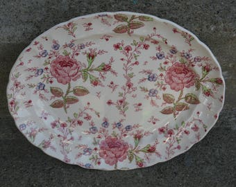 johnson bros rose chintz platter johnson brothers made in england shabby french farmhouse