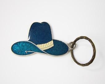 VINTAGE Key Chain Holder Western Cowboy Hat