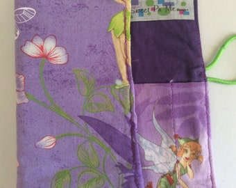 Purple Tinkerbell 8 piece Crayon Roll