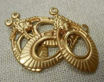 Brass Deco Drop Pendant