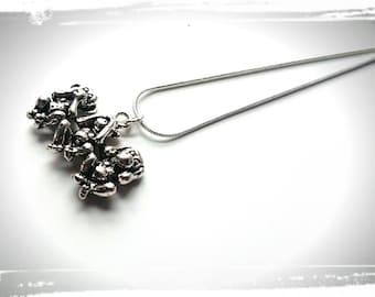 See No, Hear No, Speak No Evil Cute Monkey Pendant Charm Necklace