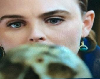 As seen on BONES - Green Agate Earrings