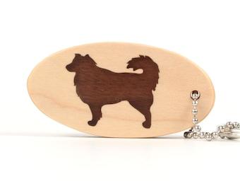 Australian Shepherd Key Chain, Wood Dog Breed Key Ring, Pet Key Fob, Wooden Dog Key Chain, Pet Accessories, Walnut