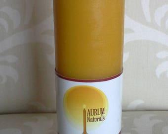 """Handmade 100% Beeswax Candle - 6"""" column pillar"""