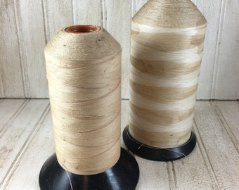 Vintage Ecru Thread Bobbins for Display