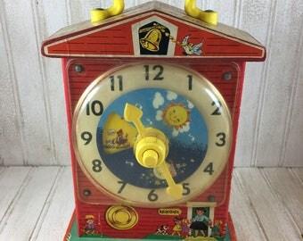 Fisher Price Teaching Clock and Music Box
