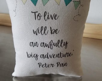 Pillows for nursery kids throw pillow soft cotton cushion Peter Pan kids room decor baby shower gift birthday gift boy toddler home decor