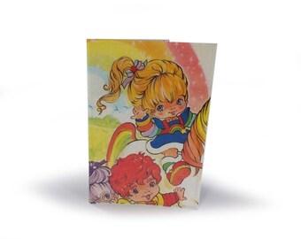Rainbow Brite Passport Cover - Upcycled Vintage Comic in Vinyl